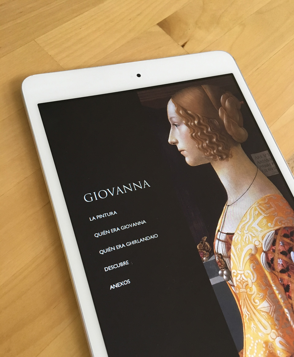 Giovanna on tablet